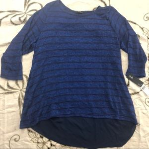 🔥AGB blue high low sweater blouse